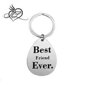 Stainless Steel Best Friend Gifts Keychain - Perfect Friendship Gift Ideas for Women Teens Girls Sisters Birthday Gifts