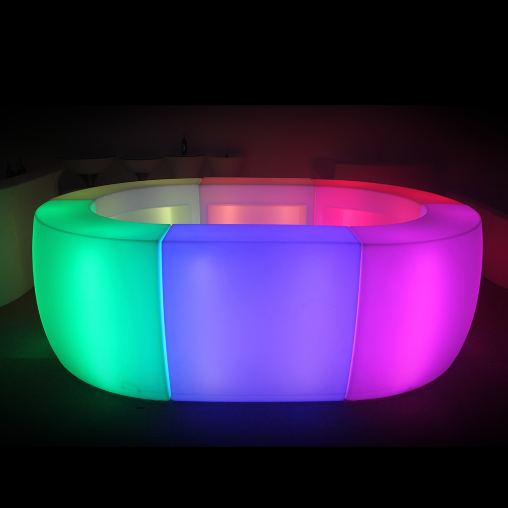 factory direct price remote rgb color lighting led illuminated circle <strong>bar</strong> counter outdoor club furniture portable <strong>bar</strong> counter