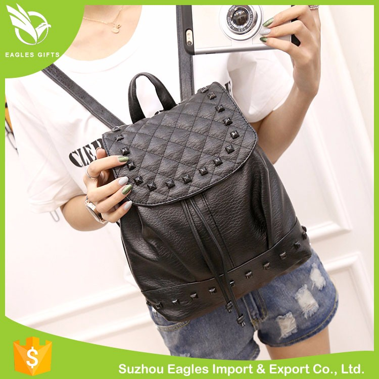 Cheap Fashion Pu High Scool Backpack Bag