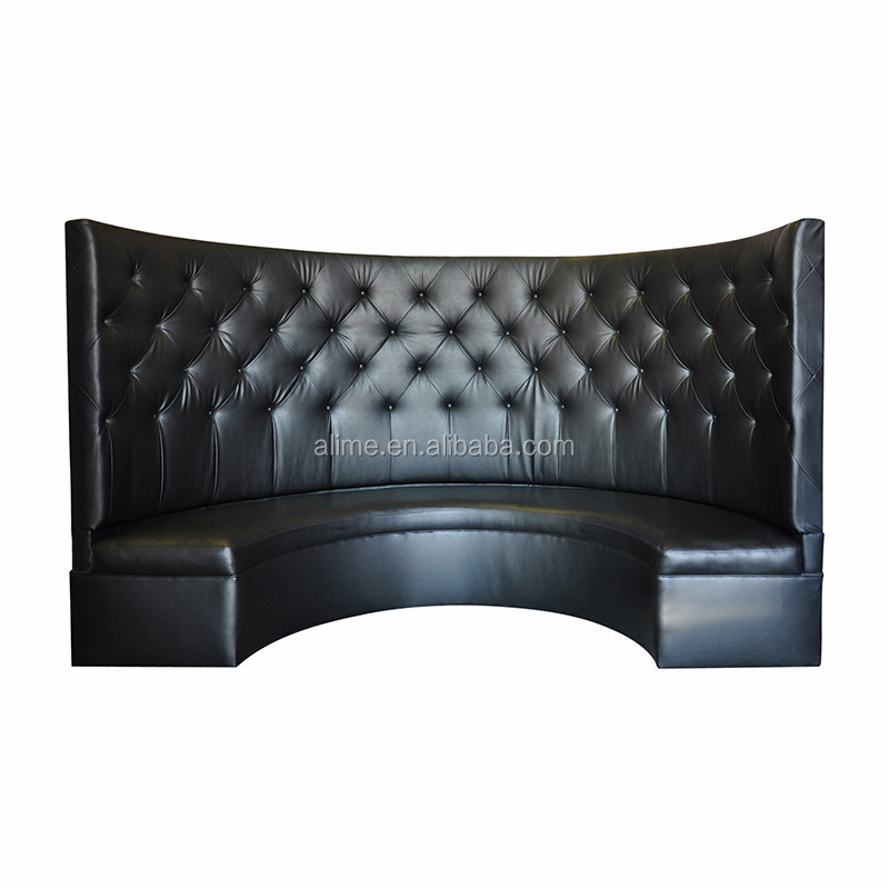 Alime High Back Sofa Booth Seating Round Restaurant