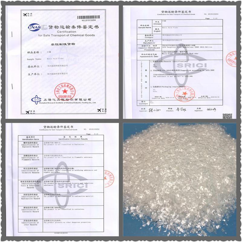 Pure white appearance magic fish scale boric acid flakes