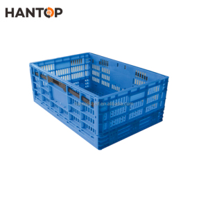 New Design Foldable Circulation Use Plastic Fruit Crate HAN-FB10 2458