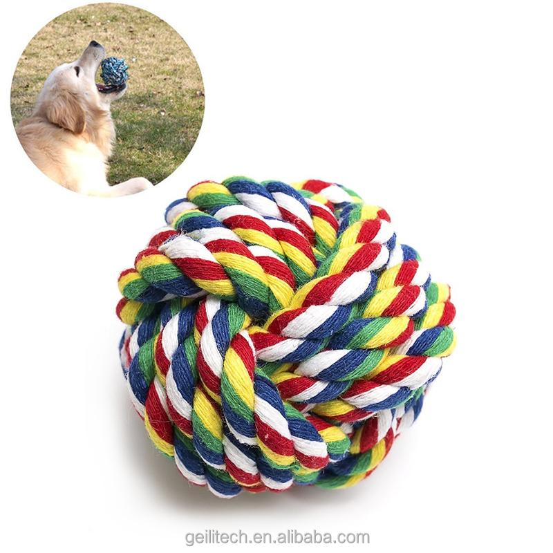 2017 Novo design Macio corda de algodão bola de brinquedo do cão, atacado pet brinquedo