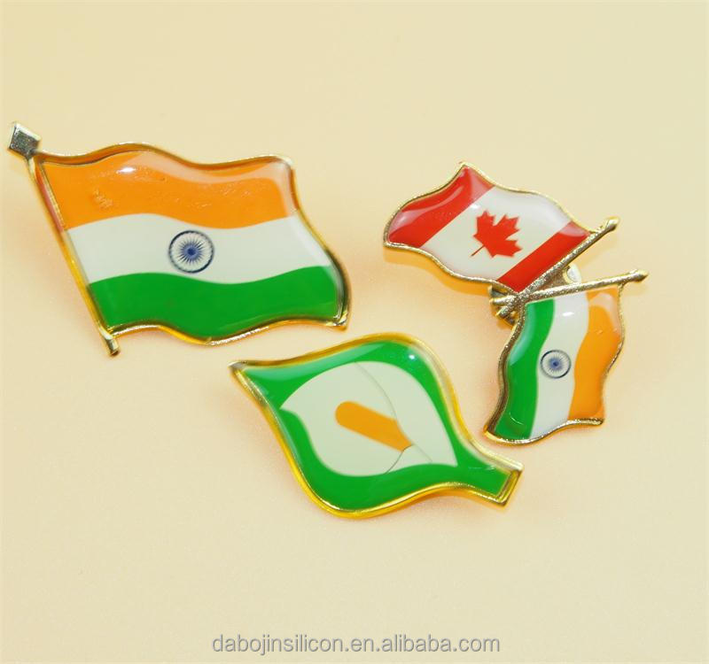 Indian flag brooch pin