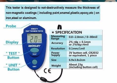 2016 диагностический инструмент кайф качество em2271 краска анализатор с instrumen толщиномер