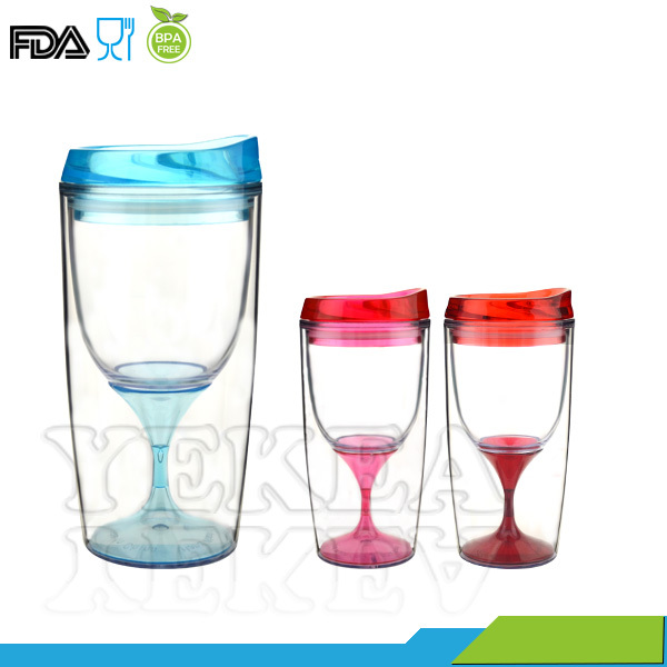 colored acrylic wine glass colored acrylic wine glass suppliers and at alibabacom - Plastic Stemless Wine Glasses