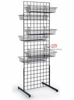 floor standing metal mesh hanging wire basket
