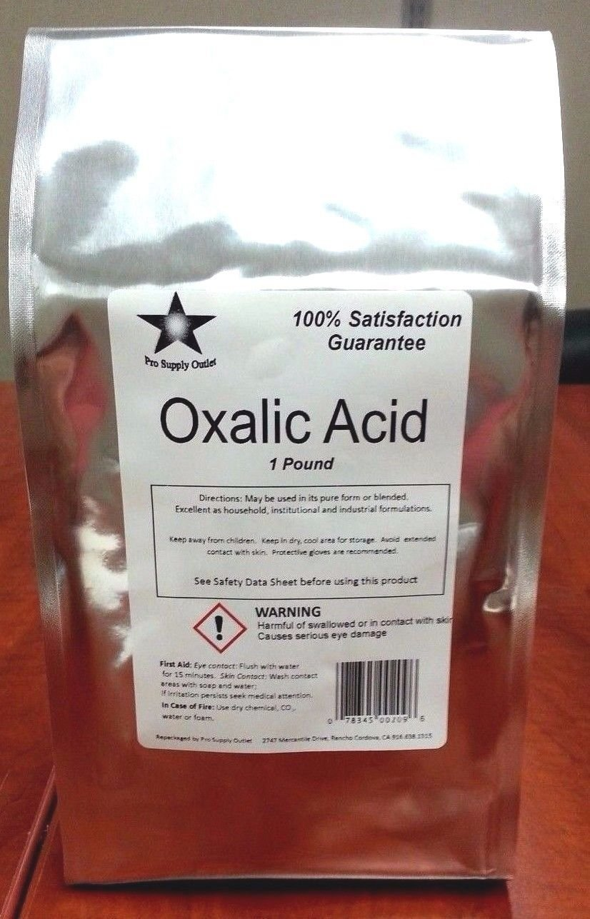 Oxalic Acid 99.6% Dihydrate 1 Lb Pack Wood Bleach Rust Remover (9924)