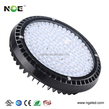 hot selling round compact led high bay light IP65 clear tempered glass ufo high bay