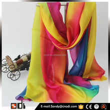 Top Quality Print Luxury Long Pashmina 100% indian silk scarf