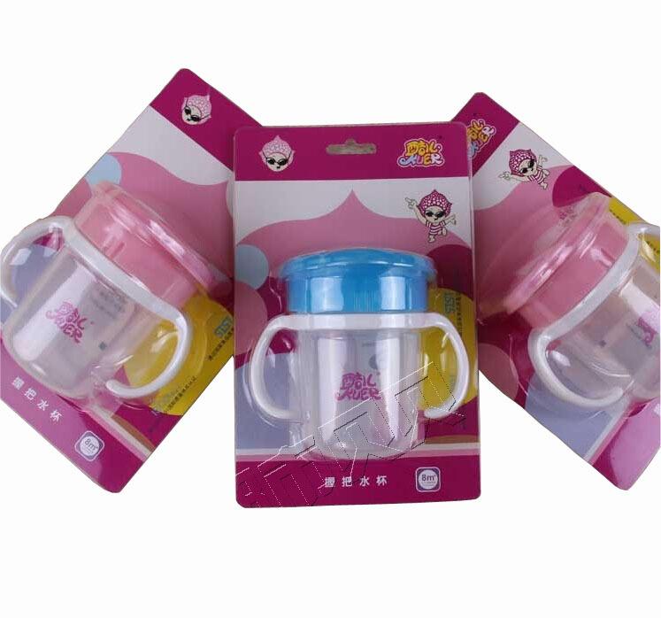 200 мл ребенок обучение чашки обучение чашки для стадии 4 ребенка стакана воды с ручкой ребенка пить бутылки коробка воды кубок