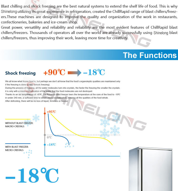115L Commercial 5 Pans Fancooling Small Air Blast Chiller Freezer  Philippines Distribution