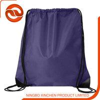dark purple polyester Drawsting beach bag /Travel Bag