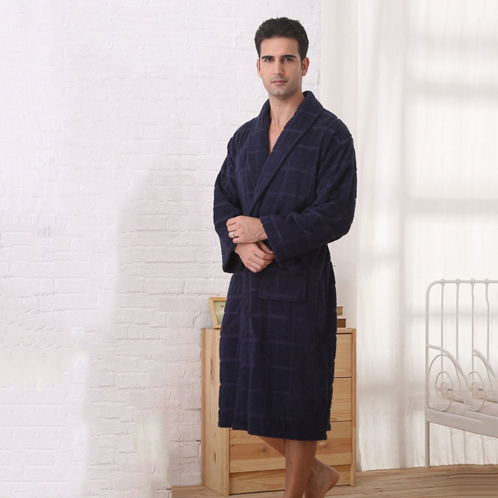 Bathrobe Mens And Ladies Bathrobe Deep Patch Pockets And Towelling Belt  Nightwear Hotel Spa Thick Cotton 7d1af436a