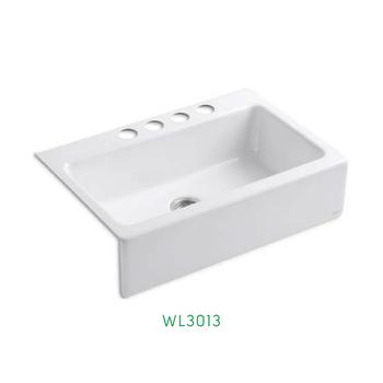 Cheap Top Mount White Single Bowl Undermount Farmhouse Cast Iron Front  Apron Kitchen Sink Wl-3013 - Buy Kitchen Sink Single,Cast Iron Kitchen ...