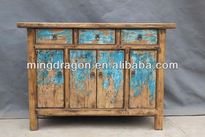 Chino antiguo reciclado shanxi antiguo aparador de pino Armarios de madera Identificación del