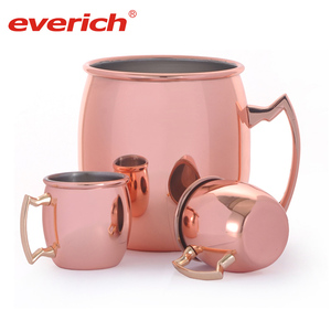 Stainless Steel Moscow Mule Copper Mug with Handle