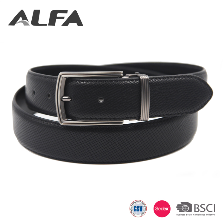 Alfa Men'S Belt Brand Wholesale Plus Size Casual Black Pu Leather Male Belts In Stock
