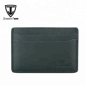 RFID Blocking Leather Cards Sleeve Wallet Organizer