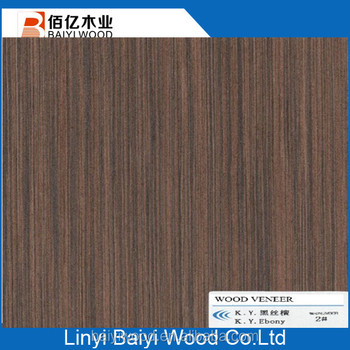 High Quality Black Ebony Wood Veneer Sheet For Cabinet Decoration