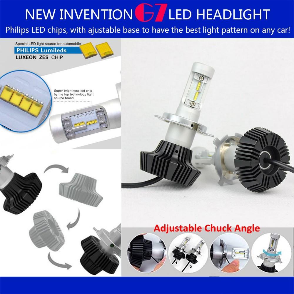 Led Head Lamp H4 Led Head Light Bulb With Adjustable Chuck Angle ...
