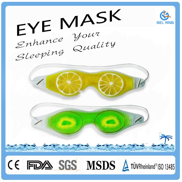 Fashion Compressed Comfortable Cotton Cloth Covered Cool Gel Eye Mask For Therapy