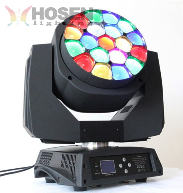 Perfect Lighting 19pcs 15w Clay Led Moving Head Beam Bee Eyes with zoom function