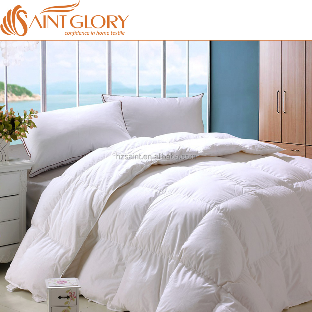 Saint Glory Promotion Hotel Down Quilt /Feather Comforter Hotel Duck Feather Blanket Made in China