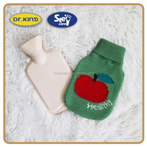Heating pad apple knitted cover large hot water bag for body massage