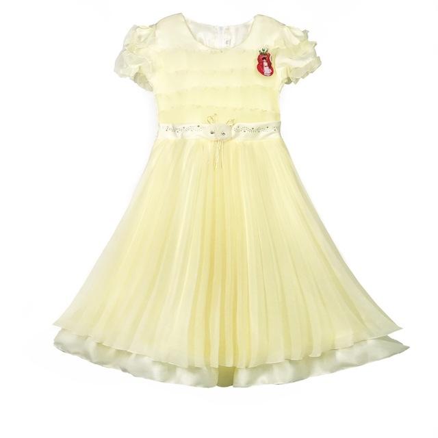 Light yellow flower girl dress source quality light yellow flower 849 yellow wholesale flower girl tulle dress mightylinksfo