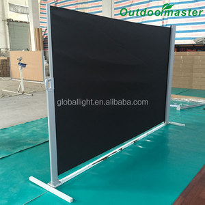 3x1.8M Folding Screen Patio Privacy Divider Black Side Retractable Awning
