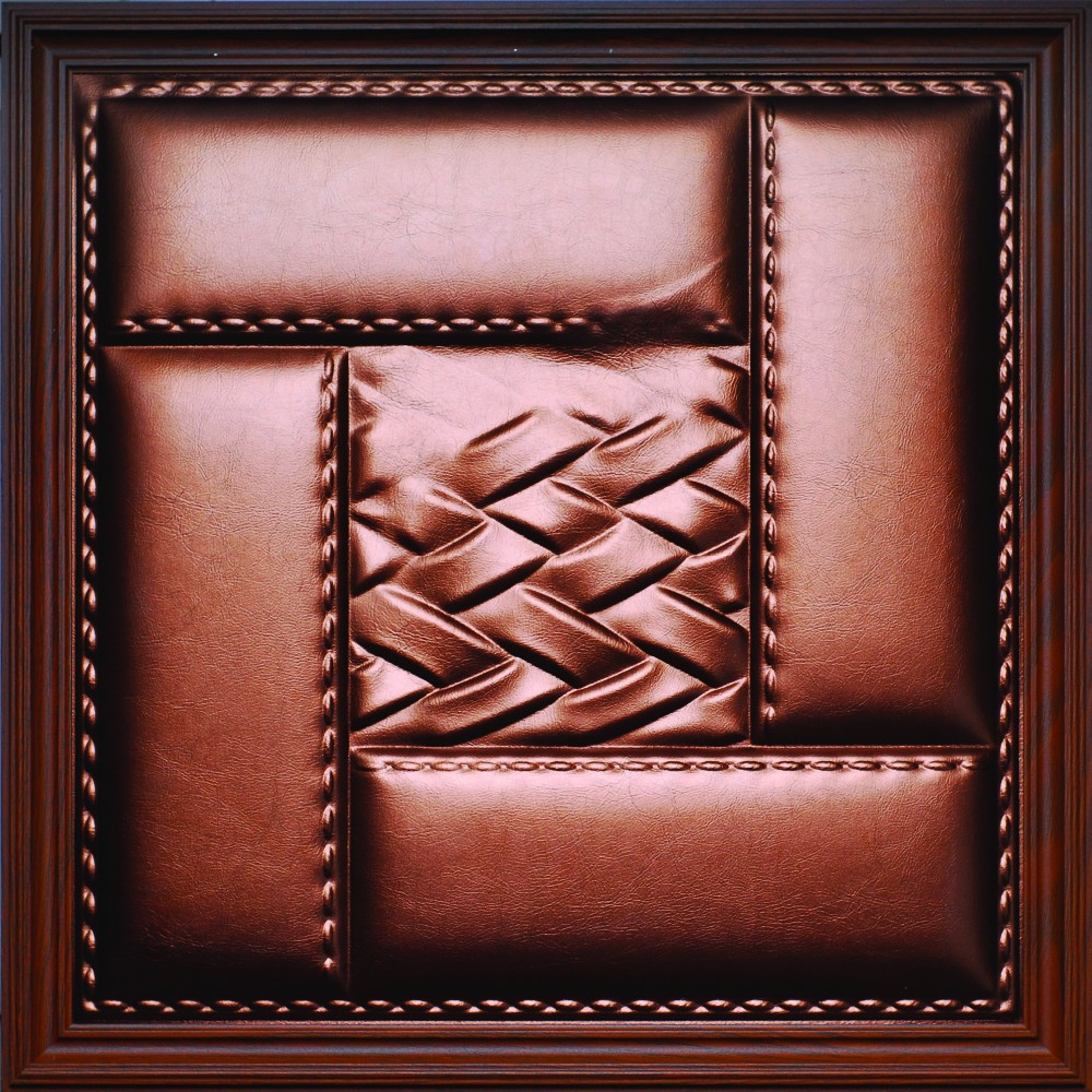 Indoor Decorative Foam PU Leather Carved 3D Wall panel