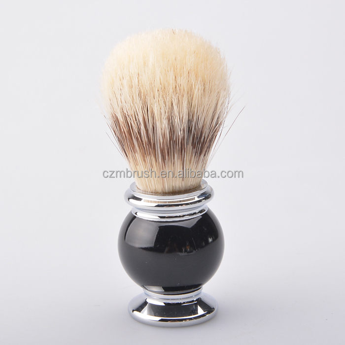 New arrival Nature Boar Bristle Hair Shaving Brush Metal Handle Beard Brush