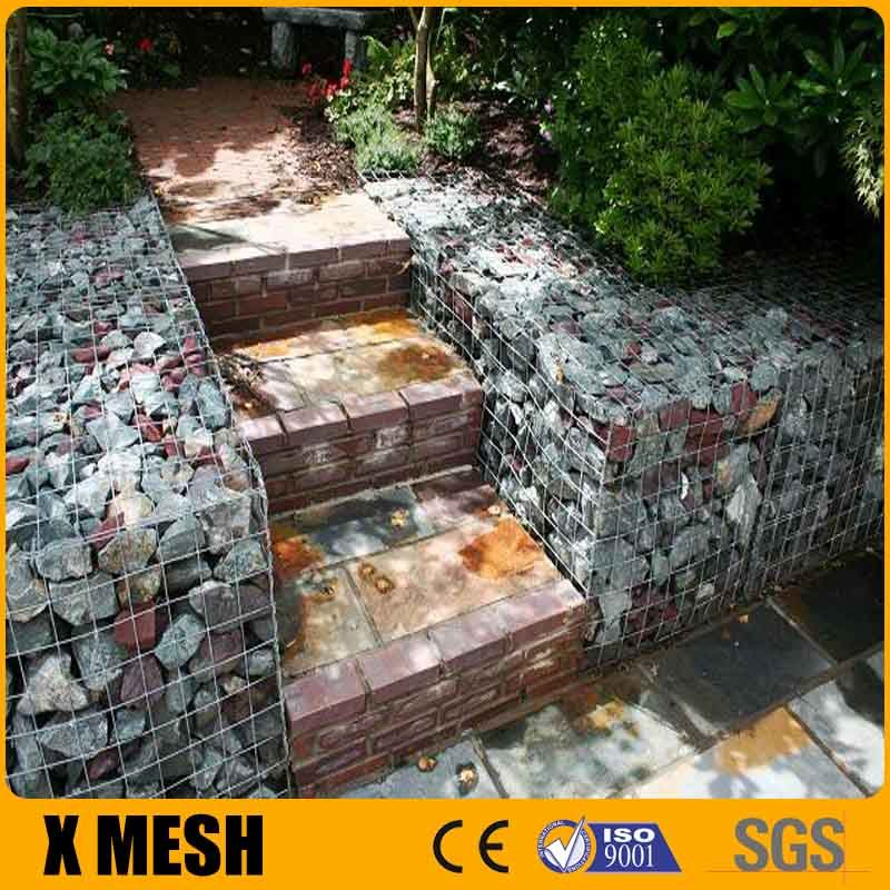 Economic 4.5mm diameter welded gabion box For Retaining Gabion Walls