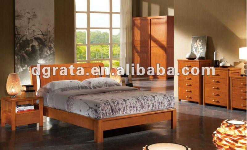 2012 nuevo dise o moderno cama king size se utiliza madera for Dormitorio king size