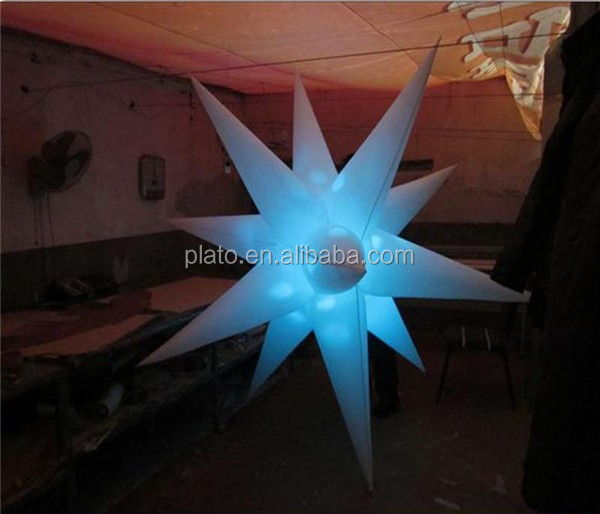 2016 Hot Sale Good Price Outdoor Inflatable Hanging LED Christmas Star Light