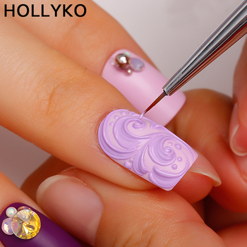 Hollyko cina fabbrica 3d carving gel nail art vernice