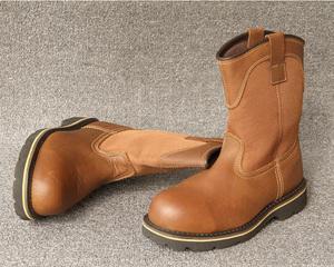 054b24ba2ec middle cut vintage leather fashion basic safety boots