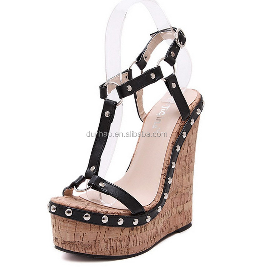 acb825cecf 2016 Comfortable High Platform Ankle Strap Wedge Sandals - Buy ...