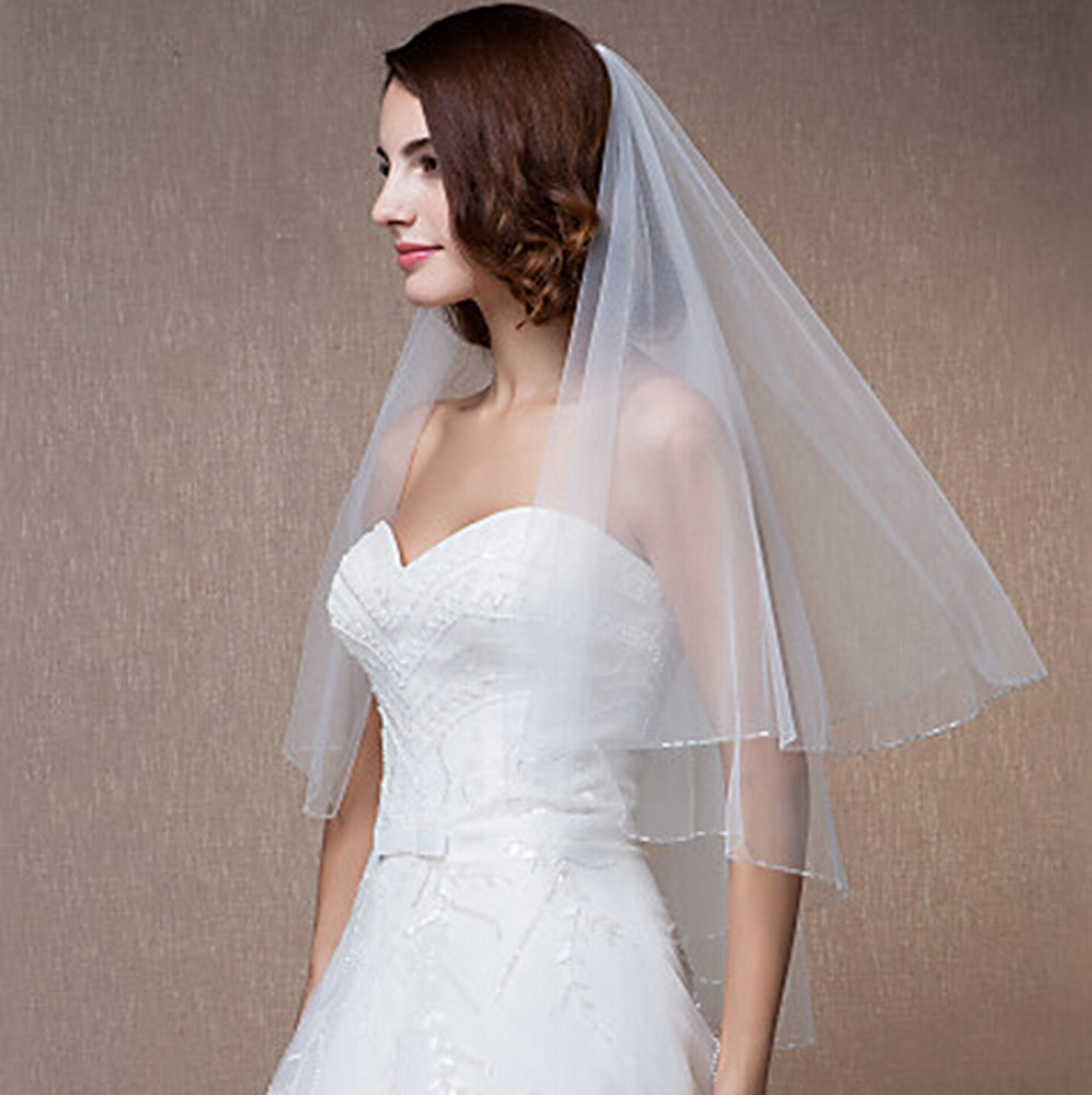 1.5m Long Wedding  Wedding Head Veil Wedding Tulle Veil Bridal Accessories