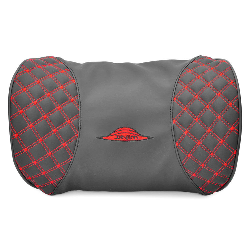 Get Quotations · 1/group Wine Car Pillow Shape Adoption Microfiber Leather Material Effectively Relieve Driver Neck Fatigue