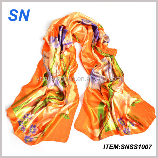 Alibaba china online shopping stock digital printed silk scarf