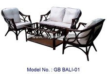 Rattan Furniture Sofa Set In Modern Armchair Design For Home Indoor Living Room