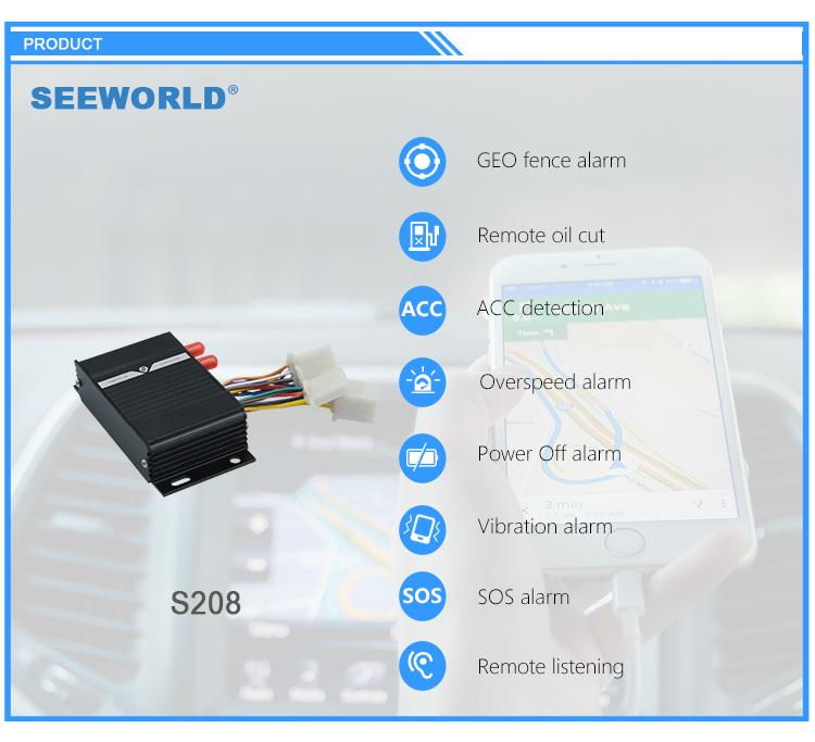 SEEWORLD xe tải/xe/taxi sử dụng gps tracker với máy đo dầu dầu cảm biến cho xe tải quản lý đội tàu