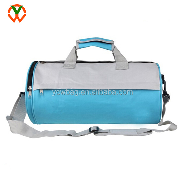 Barrel Travel Sports Bag Small Gym Bag with Shoes Compartment