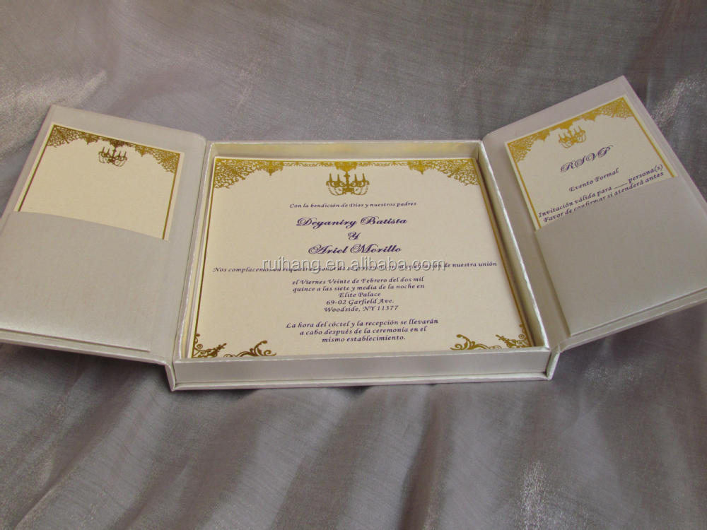 Gatefold wedding invitation box white silk invitation for Box invitations weddingbee