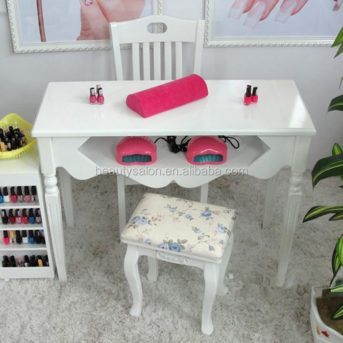 1 m eropa busana kayu solid meja manicure putih mt032a for Sillas para hacer pedicure