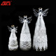 Christmas handblown decorative glass jiangsu led color changing lucky elegant angel with wings