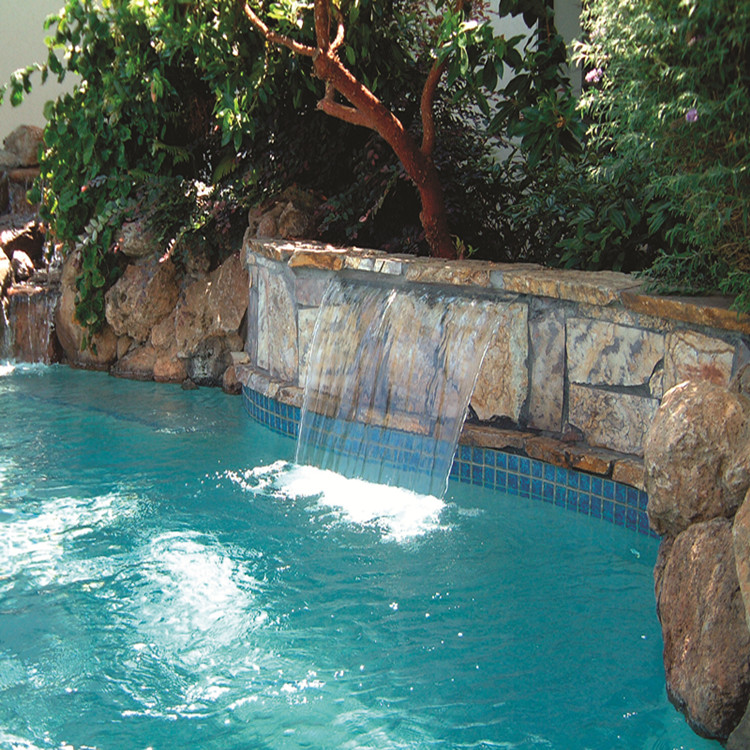 Swimming Pool Decorate Cascade Water