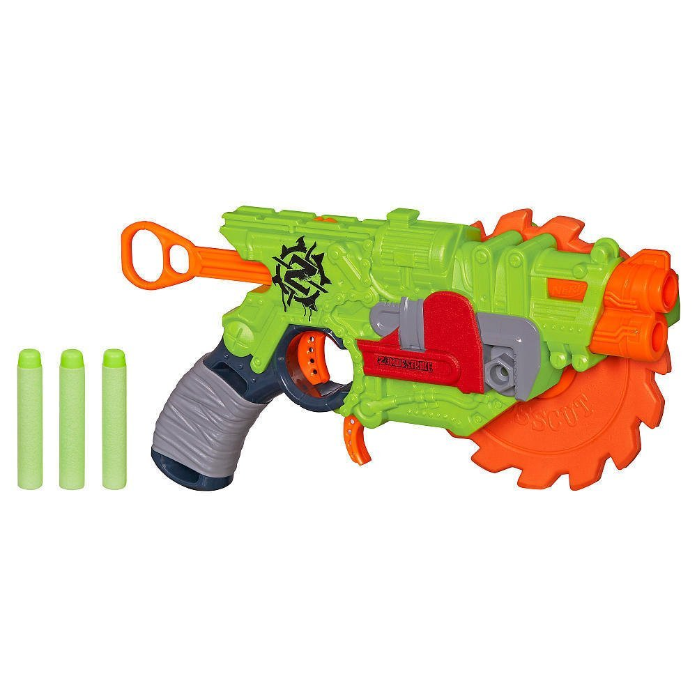 NERF Zombie Strike Crosscut Blaster Collectible Toy Gun